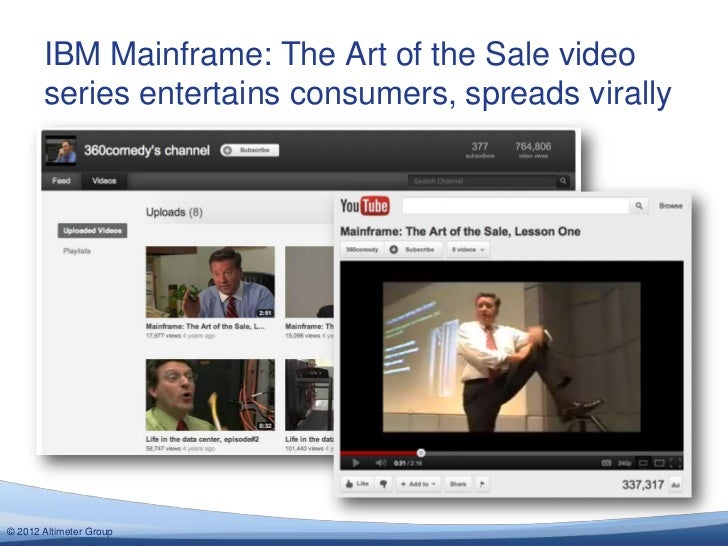 IBM Mainframe: The Art of the Sale video       series entertains consumers, spreads virally© 2012 Altimeter Group