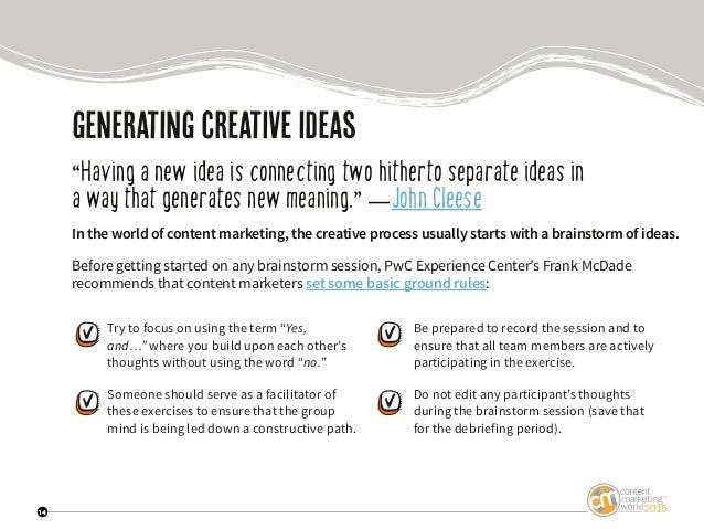 """14 generating creativeideas """"Having a new idea is connecting two hitherto separate ideas in a way that generates new meani..."""