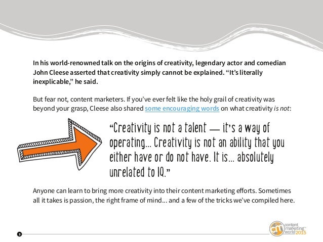 Content Marketing Inspiration From John Cleese And Other Creative Innovators Slide 3