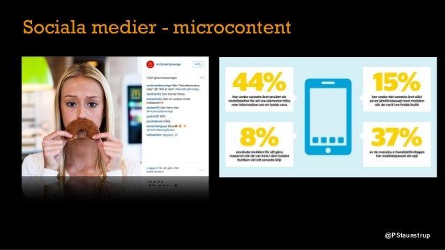 Sociala medier - microcontent @PStaunstrup