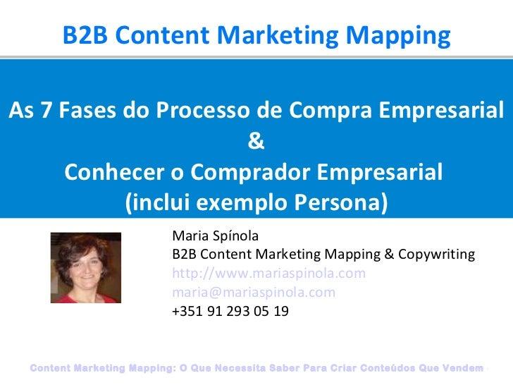 B2B Content Marketing Mapping Maria Spínola B2B Content Marketing Mapping & Copywriting http://www.mariaspinola.com [email...