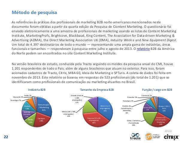 Método de pesquisa As referências às práticas dos profissionais de marketing B2B norte-americanos mencionados neste docume...