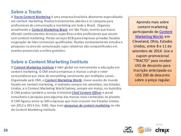 Sobre a Tracto A Tracto Content Marketing é uma empresa brasileira altamente especializada em content marketing. Realiza t...