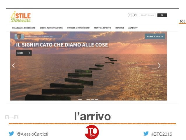 #BTO2015 105 l'arrivo @AlessioCarciofi