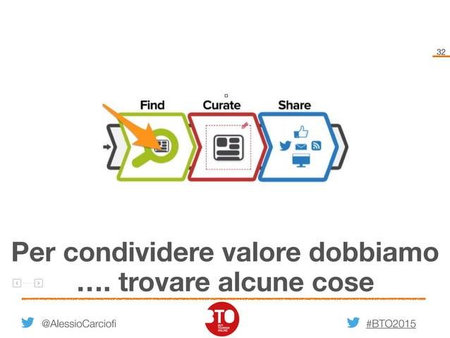 #BTO2015 32 @AlessioCarciofi Per condividere valore dobbiamo …. trovare alcune cose