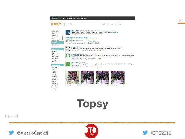 #BTO2015 38 @AlessioCarciofi Topsy