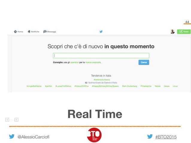 #BTO2015 44 @AlessioCarciofi Real Time