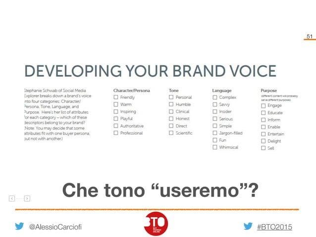 """#BTO2015 51 @AlessioCarciofi Che tono """"useremo""""?"""