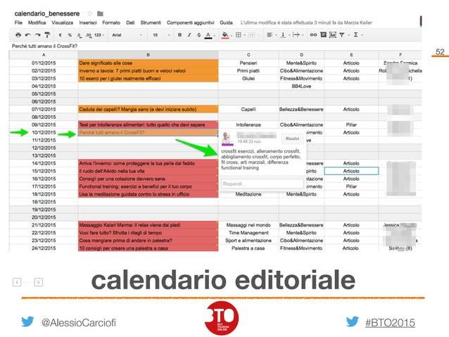 #BTO2015 52 calendario editoriale @AlessioCarciofi
