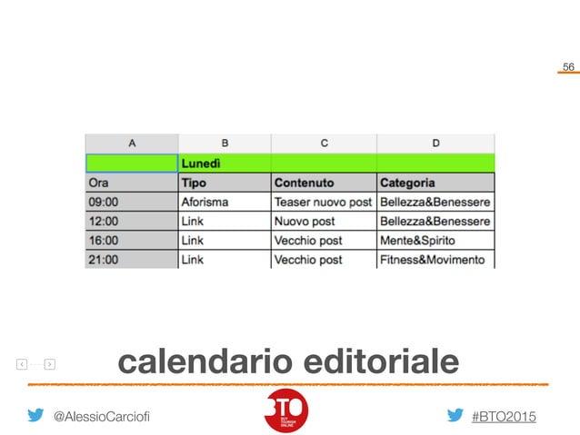 #BTO2015 56 calendario editoriale @AlessioCarciofi