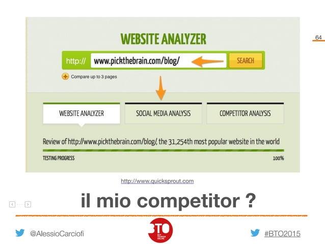 #BTO2015 64 @AlessioCarciofi il mio competitor ? http://www.quicksprout.com