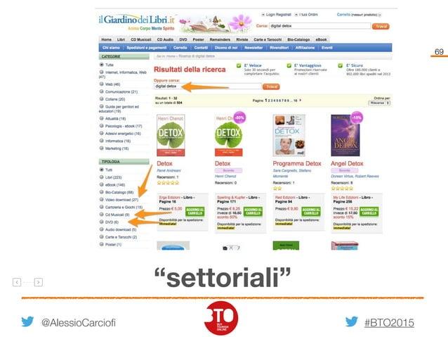 "#BTO2015 69 @AlessioCarciofi ""settoriali"""
