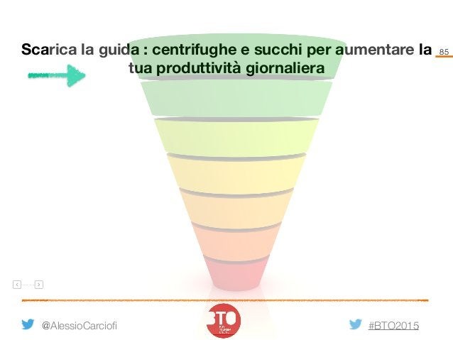 #BTO2015 85 @AlessioCarciofi Scarica la guida : centrifughe e succhi per aumentare la tua produttività giornaliera