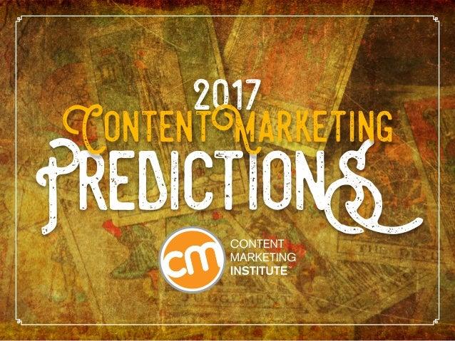 PredictionS 2017 ContentMarketing