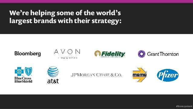 We're helping some of the world's largest brands with their strategy: #thinkcontent