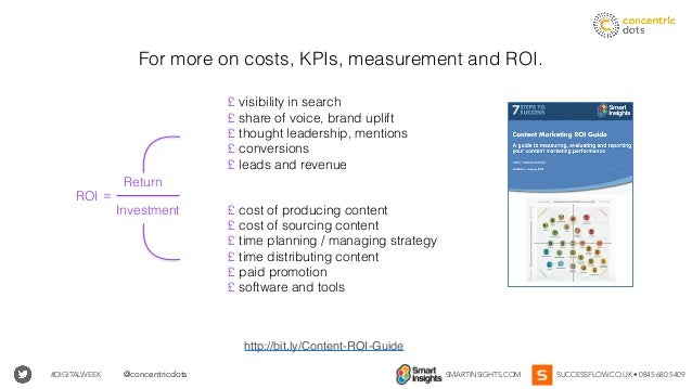 #DIGITALWEEK SMARTINSIGHTS.COM SUCCESSFLOW.CO.UK • 0845 680 5409@concentricdots For more on costs, KPIs, measurement and R...