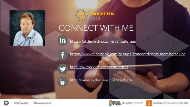 #DIGITALWEEK SMARTINSIGHTS.COM SUCCESSFLOW.CO.UK • 0845 680 5409@concentricdots CONNECT WITH ME https://uk.linkedin.com/in...