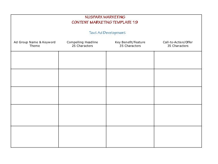 content marketing strategy templates