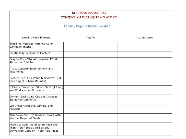 Content Marketing Strategy Templates - Blog content strategy template