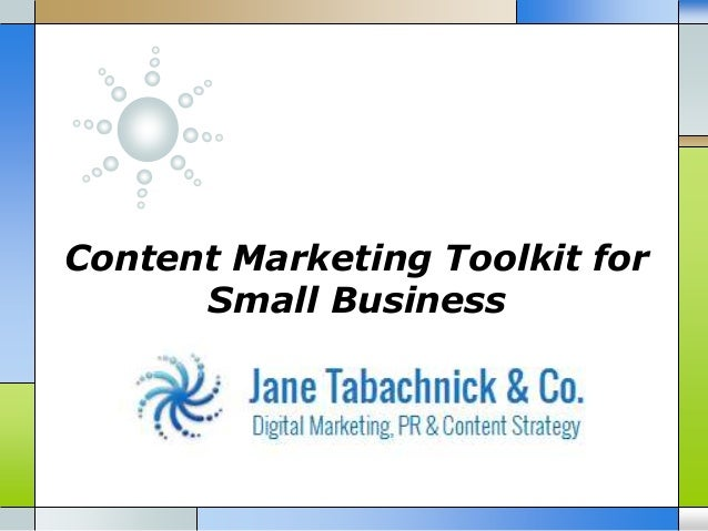 Content Marketing Toolkit for Small Business