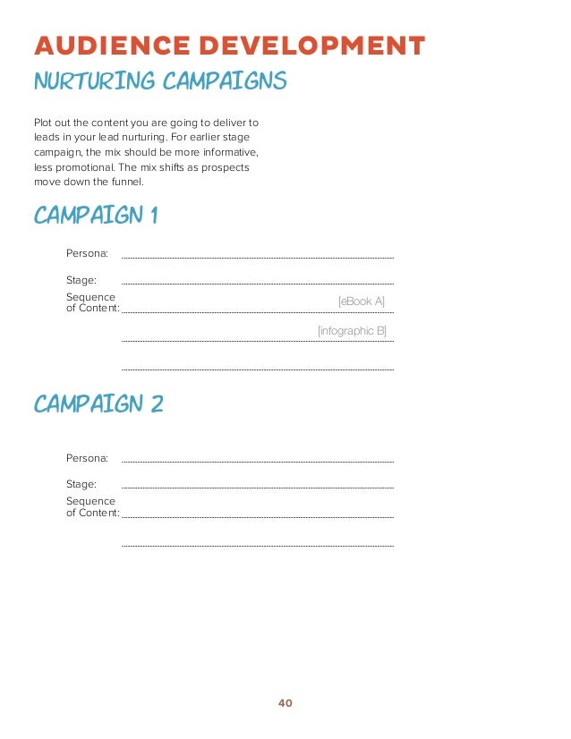 How To Build A Content Marketing Strategy Worksheets