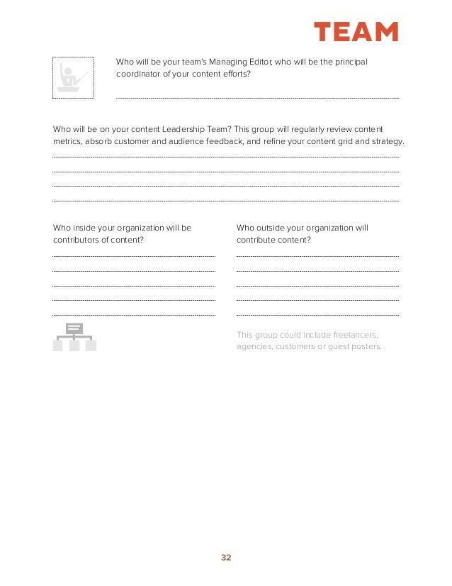 How to Build a Content Marketing Strategy Worksheets – Team Building Worksheets