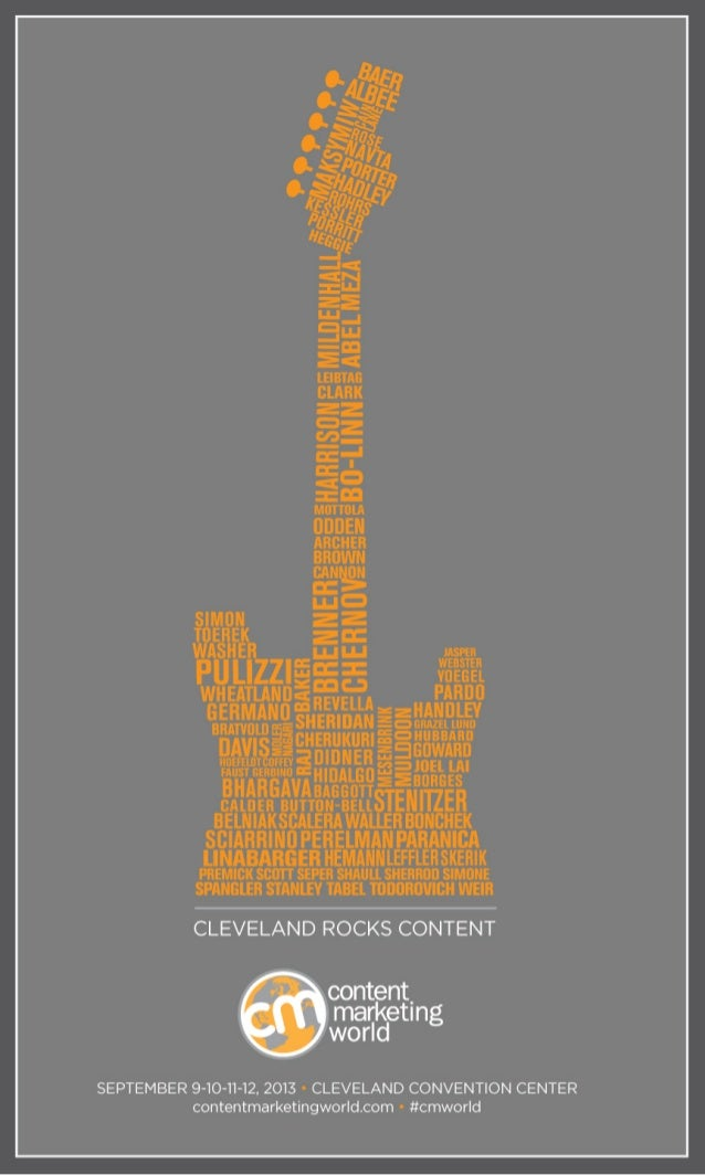 Content Marketing World - Cleveland Rocks Content - Speaker Concert Posters