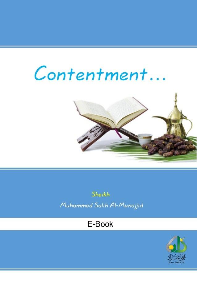 Contentment… Sheikh Muhammed Salih Al-Munajjid E-Book