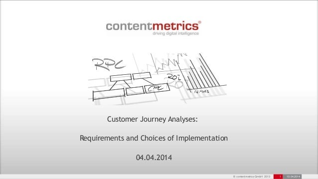 © contentmetrics GmbH 2013 1 10.04.2014 Customer Journey Analyses: Requirements and Choices of Implementation 04.04.2014