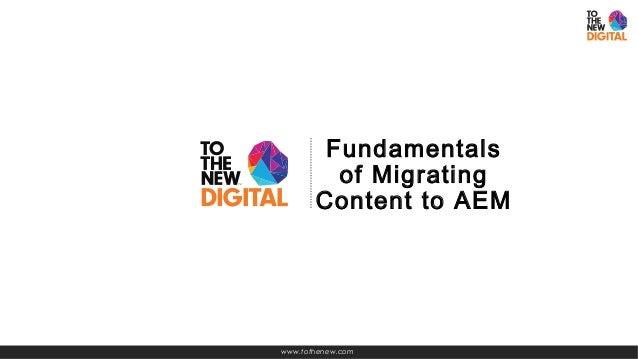 Content migration to AEM Slide 2