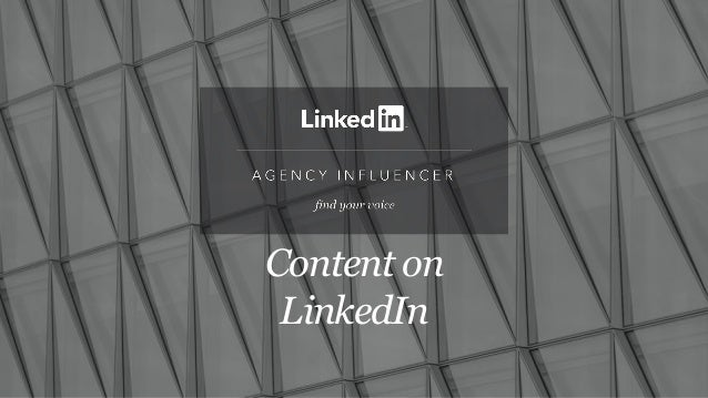 Content on LinkedIn