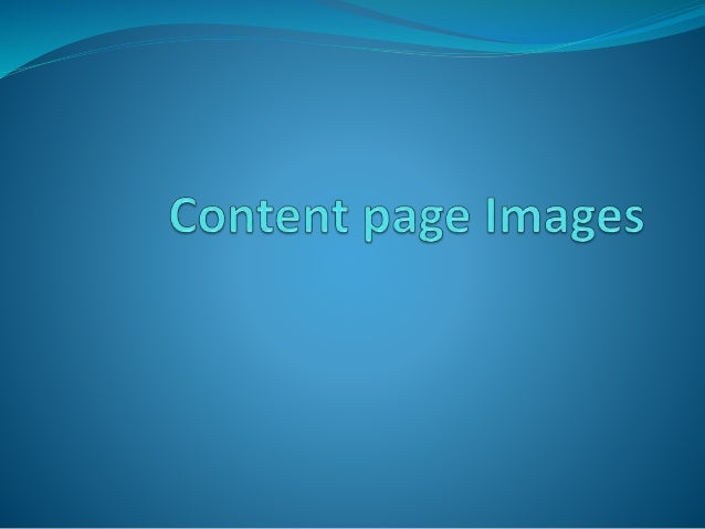 Content page images