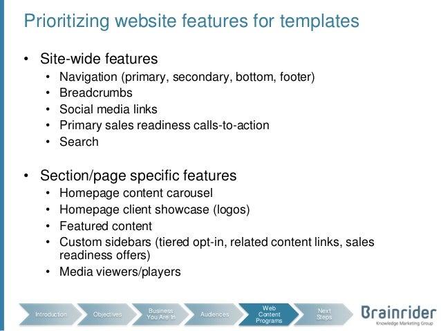 website planning templates