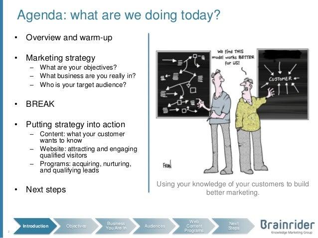B2B Content Website Lead Generation Planning Workshop Template – Workshop Agenda Example