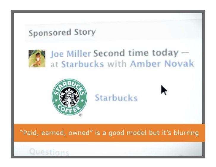 """""""Paid, earned, owned"""" is a good model but it's blurring                                                          11"""