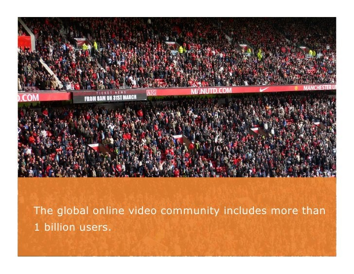The global online video community includes more than1 billion users.                                                      ...