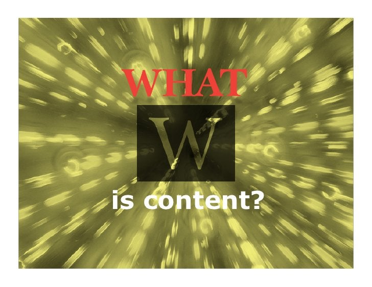 is content?              4