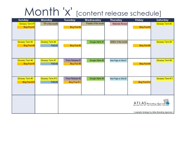 Sunday       Month x [content release schedule]                     Monday               Tuesday            Wednesday     ...