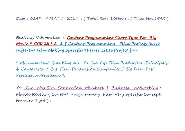 Date : 024TH / MAY / 2014 ; ( Total Set : 10Nos ) ; ( Time Hrs.1540 ) . Business Networking : Content Programming Short Ty...