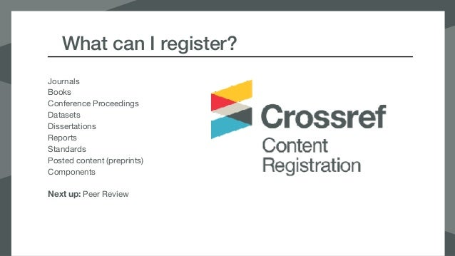 getting started with content registration Slide 2