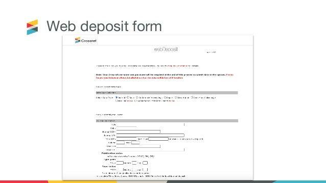 Web deposit form