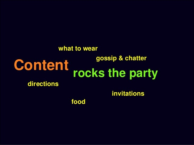 rocks the party content directions