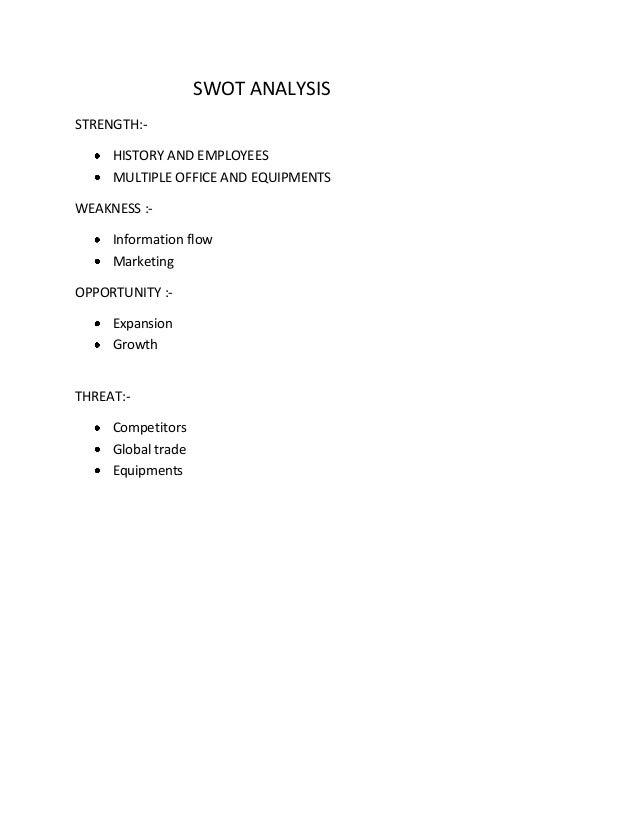 Swot Analysis of Descon Engg