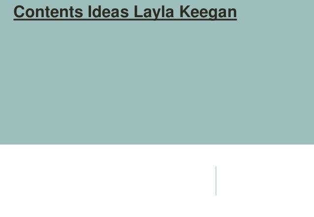 Contents Ideas Layla Keegan