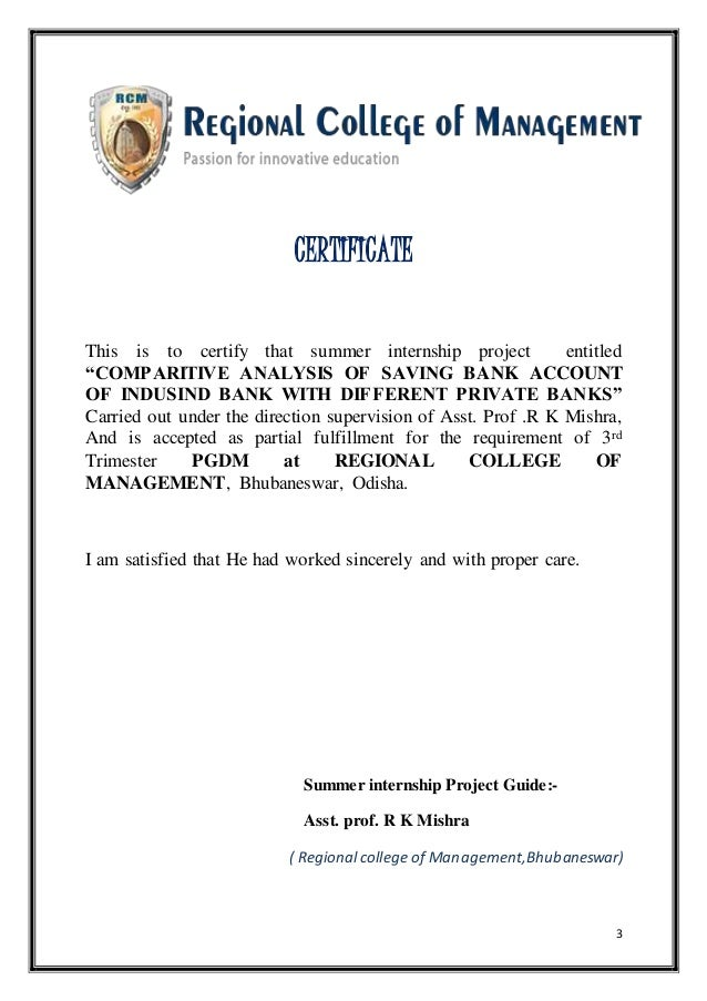 Comparative analysis of saving accounts of different banks 3 3 certificate yadclub Choice Image