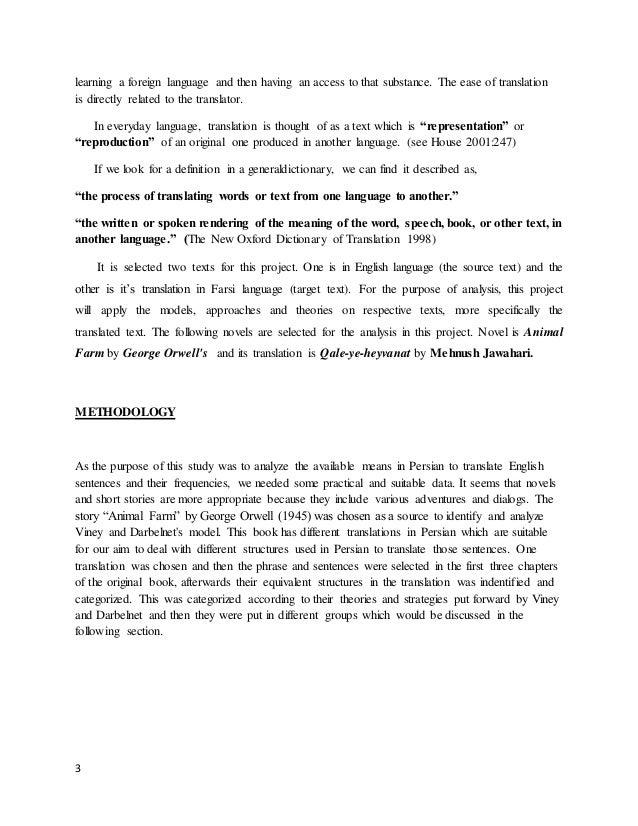 translation Animal Farm according to Viney and Darbelnet theory Slide 3
