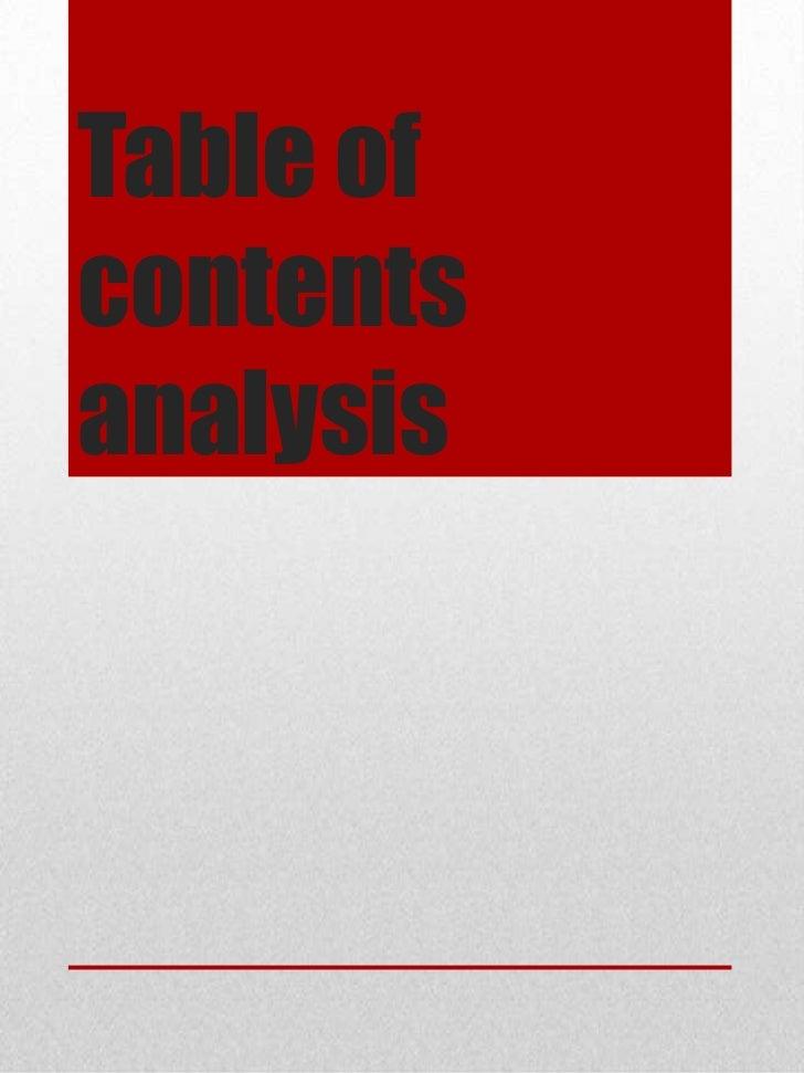 Table ofcontentsanalysis