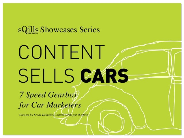 """! ! Showcases Series!CONTENTSELLS CARS7 Speed Gearbox !for Car Marketers""""""""Curated by Frank Delmelle, Content Strategist @s..."""