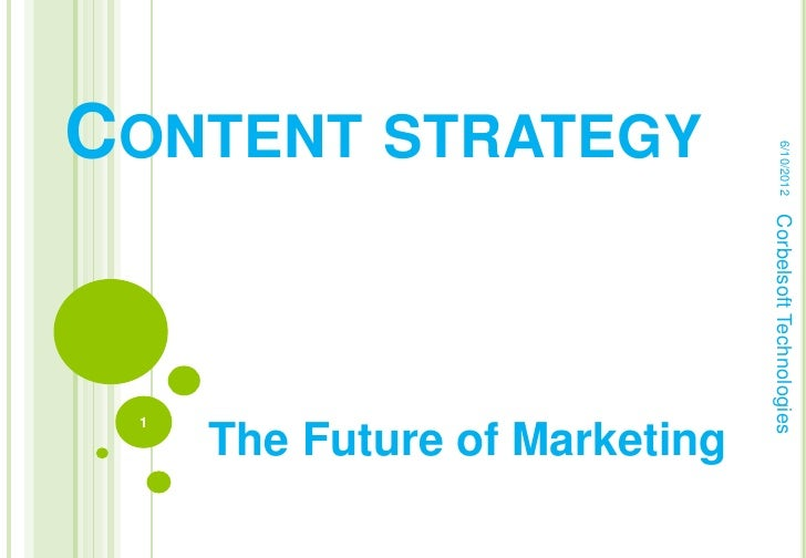 CONTENT STRATEGY                                    6/10/2012                               Corbelsoft Technologies 1     ...