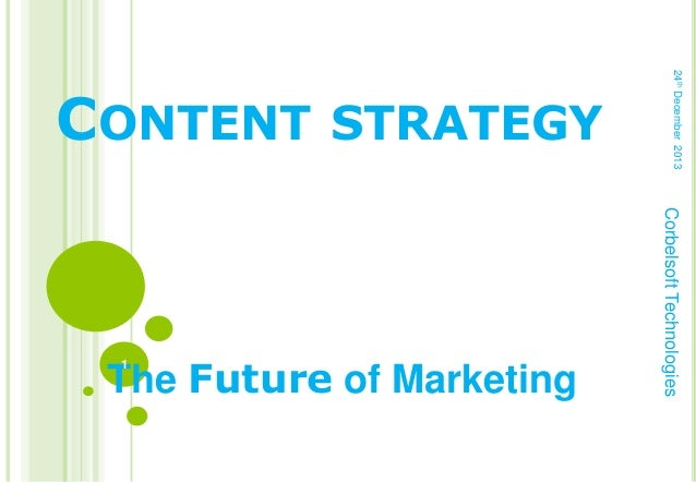 24th December 2013  Corbelsoft Technologies  The Future of Marketing 1  STRATEGY  CONTENT